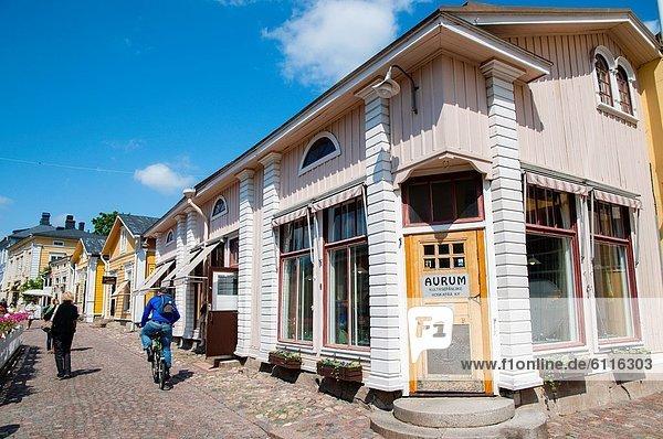 Straße Stadt Finnland Nordeuropa alt Porvoo