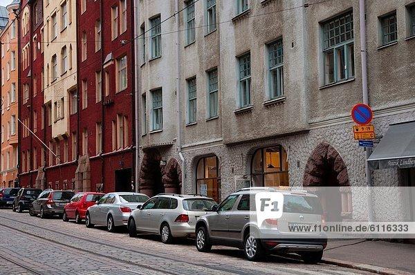 Helsinki Hauptstadt Europa Straße Ortsteil Finnland