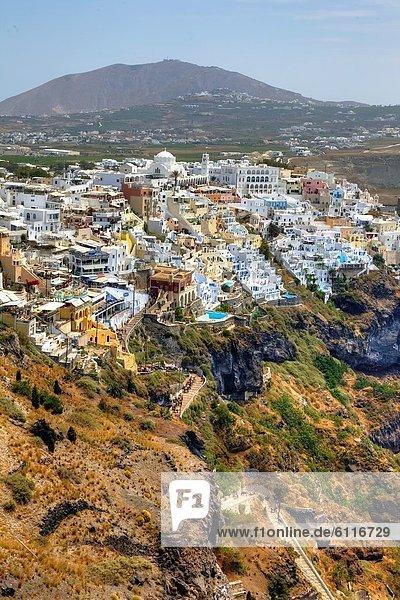 Santorin Höhle Hafen Fira