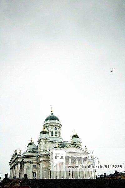 Helsinki  Hauptstadt  Winter  Tag  Kathedrale
