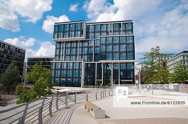 Hafen Europa Lagerhalle Lager Quadrat Quadrate quadratisch quadratisches quadratischer Mittelpunkt Zimmer Hamburg - Deutschland Ortsteil Deutschland HafenCity alt