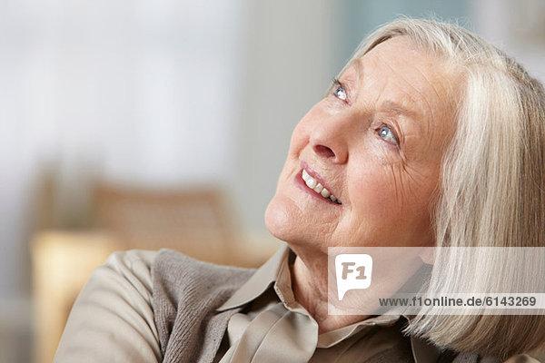 Senior woman looking away  portrait
