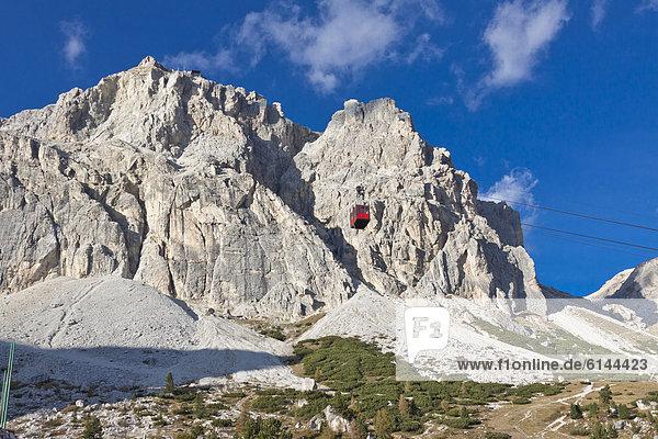 Europa Dolomiten Seilbahn Italien