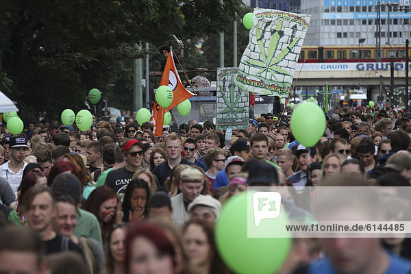 Hemp Parade for the legalisation of cannabis  Berlin  Germany  Europe
