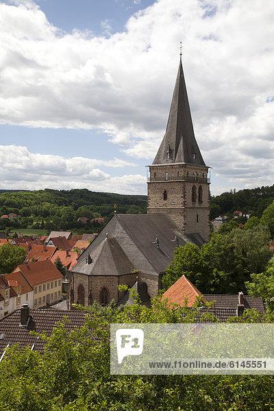Altstadtkirche  Warburg  Nordrhein-Westfalen  Deutschland  Europa  ÖffentlicherGrund