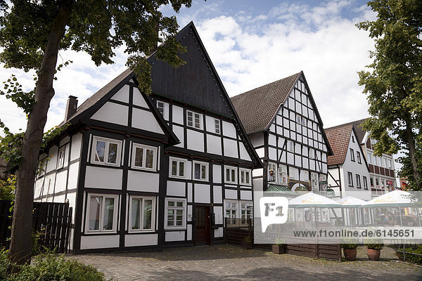 Europa Gebäude Stadt Geschichte Deutschland Hälfte Münster Rheda-Wiedenbrück