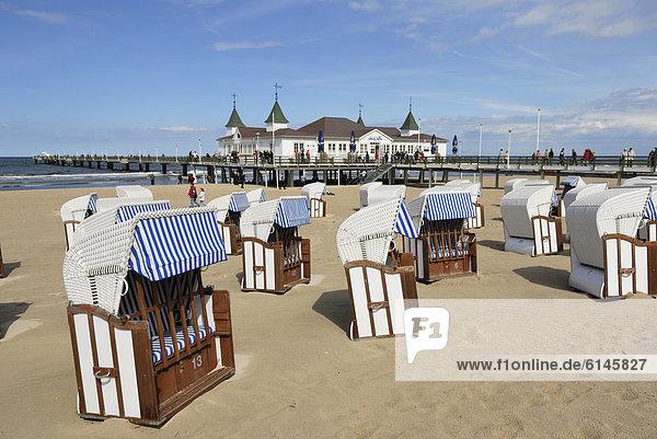 Europa Strand Kai Ostsee Baltisches Meer Deutschland Mecklenburg-Vorpommern