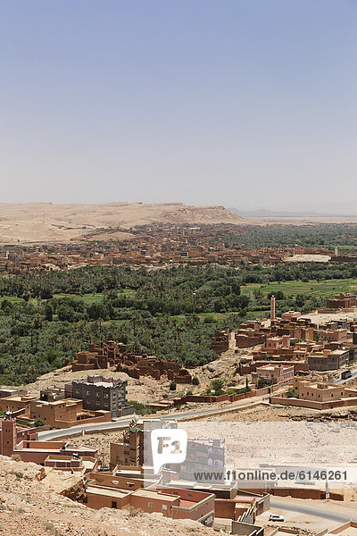 View of Tinghir  Souss-Massa-Dara'  Morocco  North Africa  Maghreb  Africa