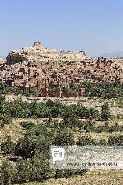 Ksar of Ait-Ben-Haddou  UNESCO World Heritage Site  near Ouarzazate  Souss-Massa-Dra'  Morocco  Maghreb  North Africa  Africa