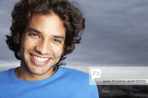hoch  oben  nahe  Mann  lächeln  Hispanier