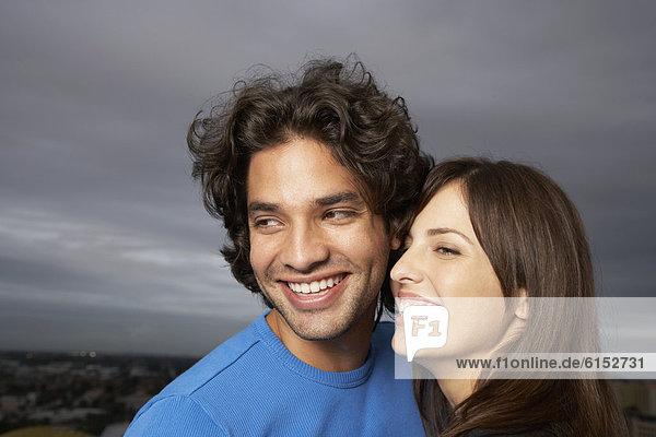 hoch  oben  nahe  lächeln  Hispanier