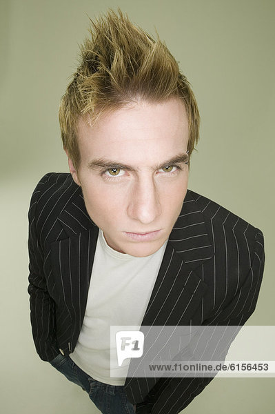 Mann  jung  Stachel  Haar