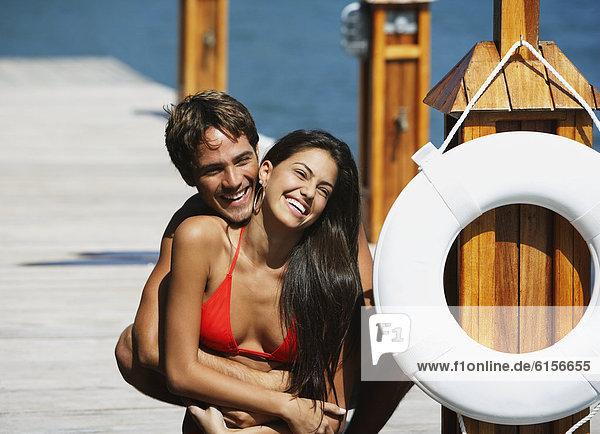 umarmen  Dock  Südamerika