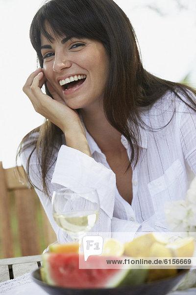 Frau  lachen  Südamerika
