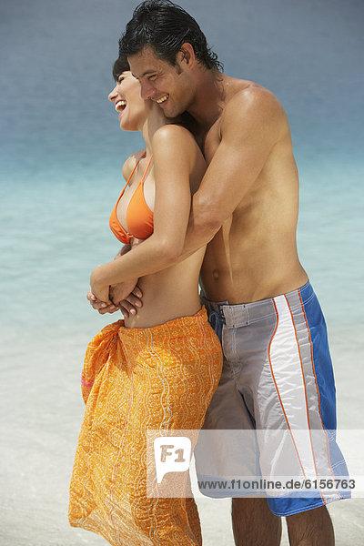umarmen  Strand  Südamerika
