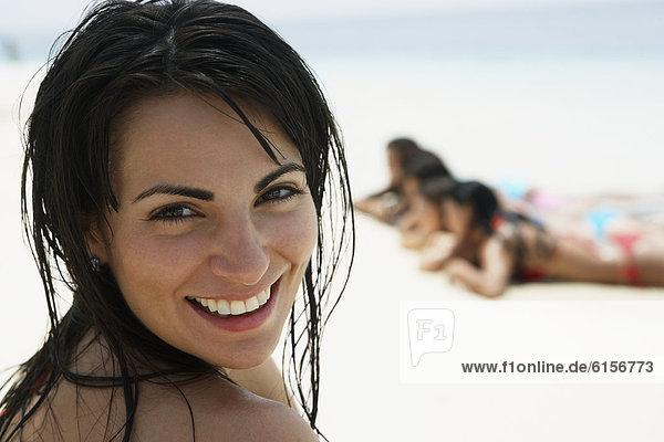 Frau  Strand  Südamerika