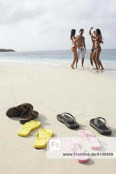 Mensch  Menschen  Strand  Schuh  Hintergrund