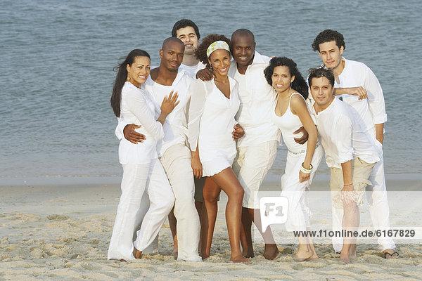 Pose  Freundschaft  Strand