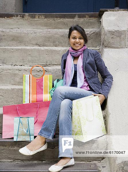 Frau  Tasche  kaufen  mischen  Mixed