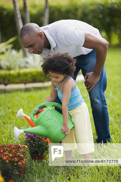Wasser Blume Menschlicher Vater Tochter
