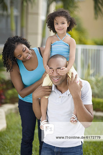 sehen Tochter Menschlicher Vater Mutter - Mensch