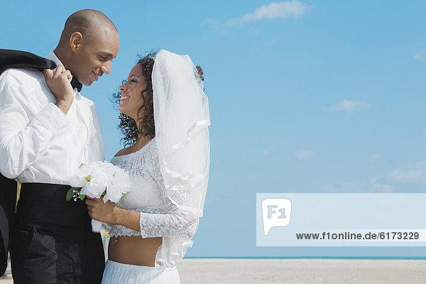 Braut Bräutigam lächeln multikulturell Braut,Bräutigam,lächeln,multikulturell