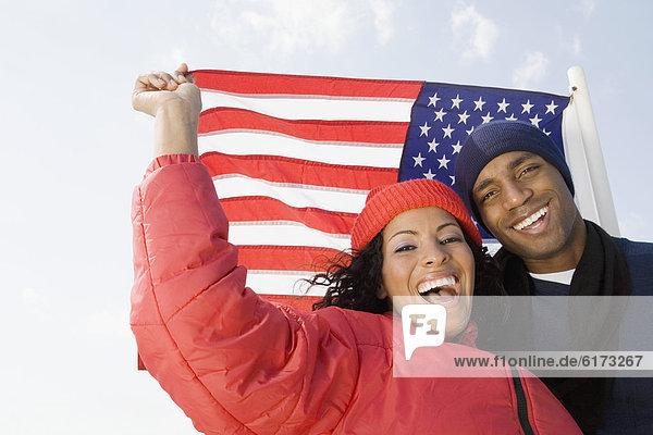 frontal  Fahne  amerikanisch  multikulturell frontal ,Fahne ,amerikanisch ,multikulturell