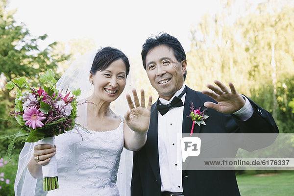 Hochzeit  winken