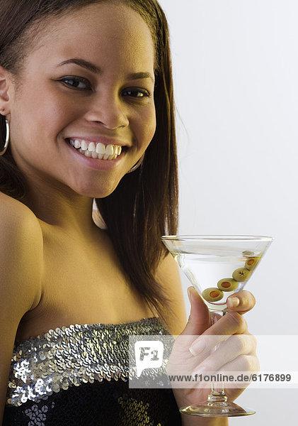 Frau  trinken  Martini