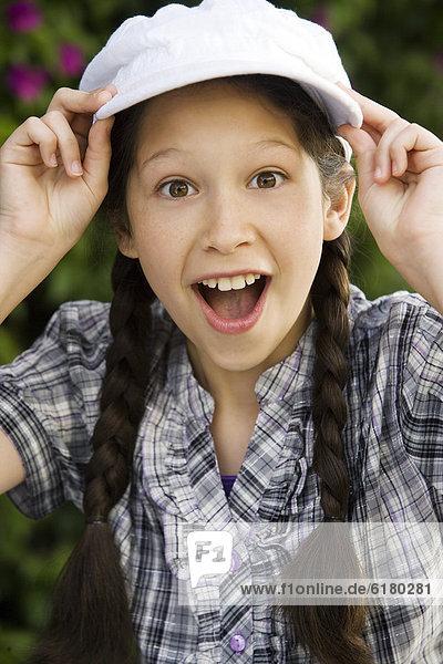 Surprised Hispanic girl