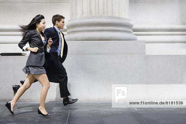 Mensch  Menschen  Weg  rennen  Business