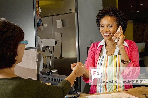 nehmen  Inhaber  Kredit  amerikanisch  Kreditkarte  Bäckerei  Karte
