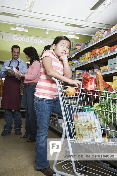 Lebensmittelladen  kaufen  Tochter  Mutter - Mensch