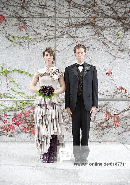 Braut  Bräutigam  Glamour