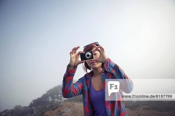 Frau  Fotografie  nehmen  südkoreanisch