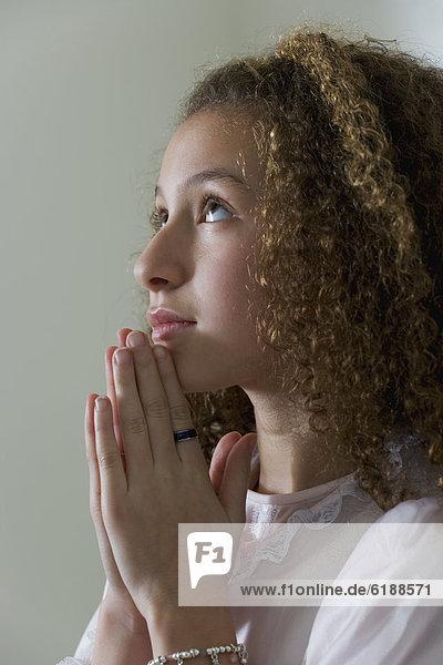 Gebet  mischen  Nachthemd  Mädchen  Mixed