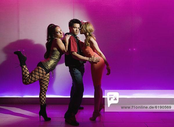 Silhouette  tanzen  Tänzer  Nachtklub