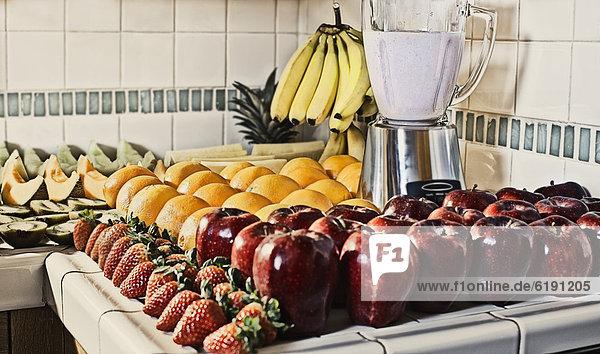 Frucht  Küche  Mixer  Tresen