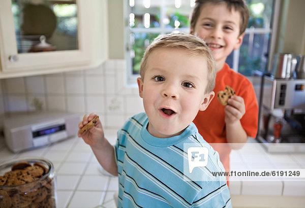 Europäer  Bruder  Küche  Diebstahl  klauen  Keks