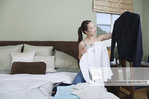 Frau  Kleidung  Reise  verpacken  Business