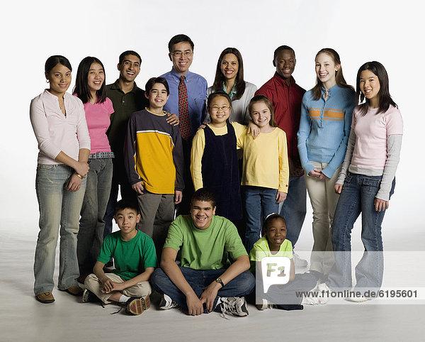 Pose  Lehrer  Student  multikulturell