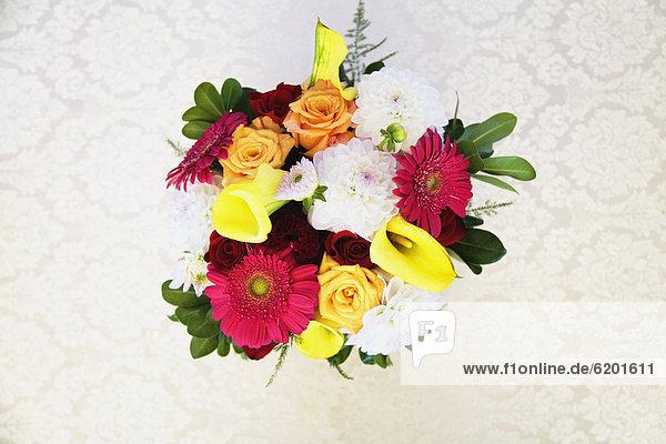 hoch  oben  Blumenstrauß  Strauß  Blume  Ansicht  Flachwinkelansicht  Winkel