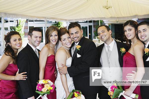 Portrait Braut Party multikulturell