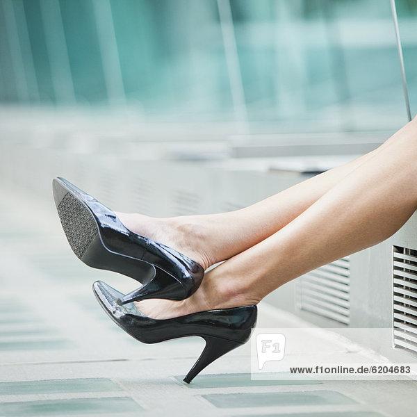 hoch  oben  Europäer  Schuh  Kleidung