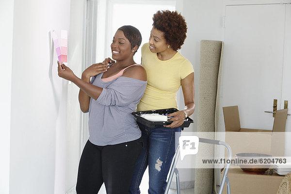 Zimmer  streichen  streicht  streichend  anstreichen  anstreichend  amerikanisch  Tochter  Mutter - Mensch