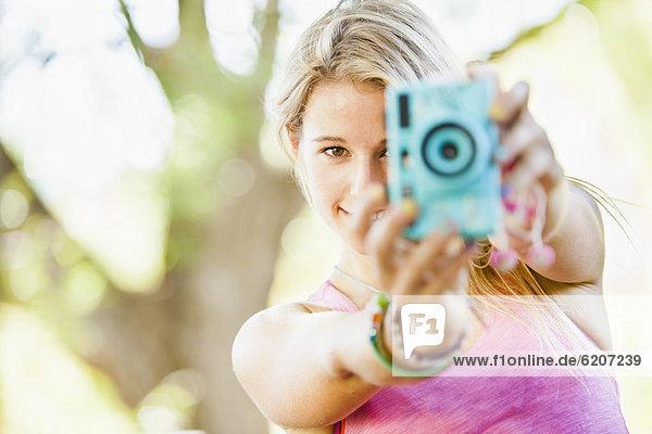Europäer  Frau  Fotografie  nehmen