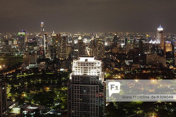 Bangkok  Hauptstadt  Stadtansicht  Stadtansichten  Nacht
