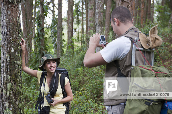 Fotografie  nehmen  Hispanier  wandern