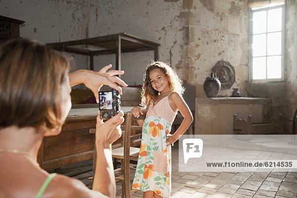 Fotografie  nehmen  Tochter  Mutter - Mensch