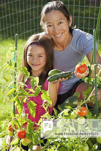 Gartenbau Tochter Mutter - Mensch japanisch
